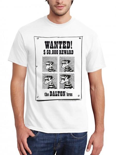 clothinx Herren T-Shirt Lucky Luke - Wanted Dalton Brothers, original lizenziert