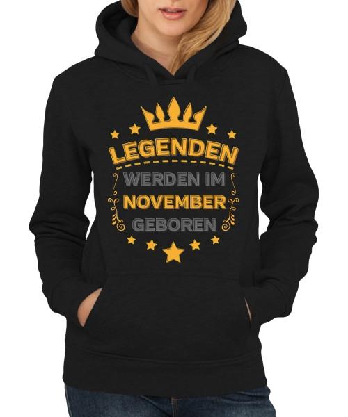 -- Legenden werden im November geboren -- Girls Kapuzenpullover