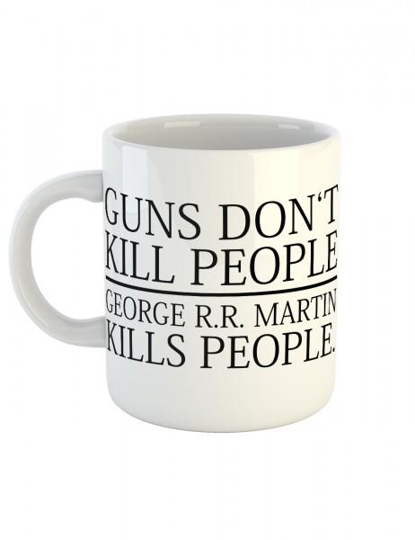 clothinx Kaffeetasse mit Aufdruck Guns Don't Kill People George Kills People