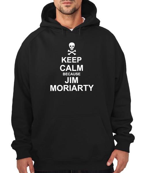 -- Keep Calm because Jim Moriarty -- Boys Kapuzenpullover