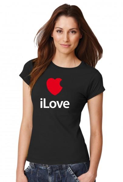 ::: iLove ::: Grafikdesign Shirt made with Love ::: Damen