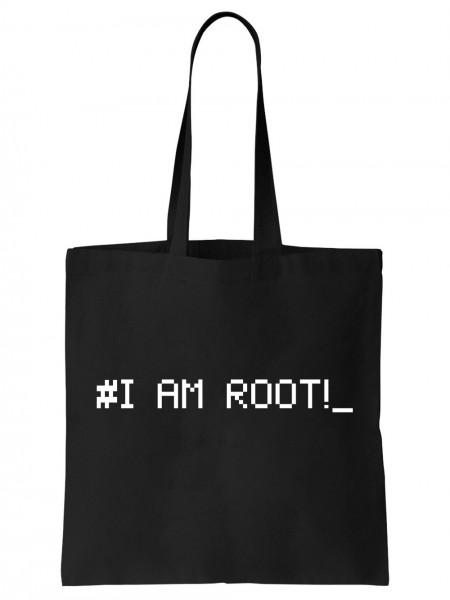 clothinx Einkaufstasche Programmierer I am Root