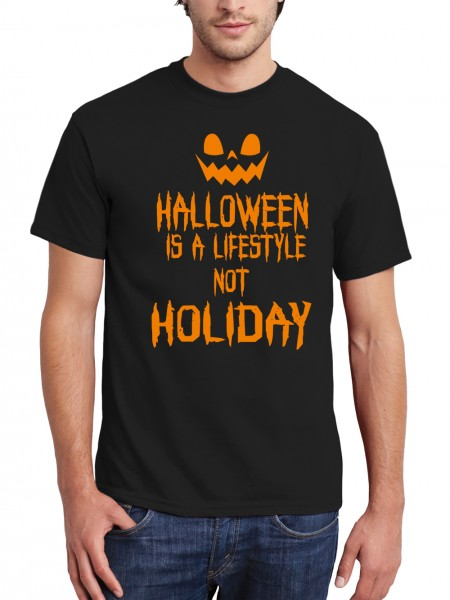clothinx Herren T-Shirt Halloween Is A Lifestyle Not A Holiday