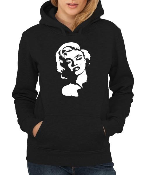 -- Marilyn Face -- Girls Kapuzenpullover