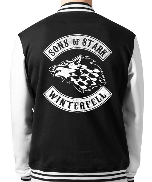 -- GoT Sons of Stark -- Unisex College Jacke