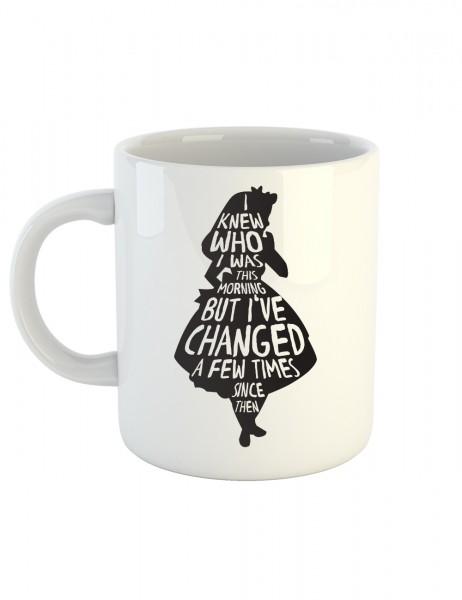clothinx Kaffeetasse mit Aufdruck Alice - I Changed a few Times