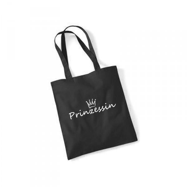 -- Prinzessin -- weißer Druck Baumwolltasche