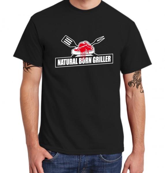 ::: NATURAL BORN GRILLER ::: Grafikdesign Shirt made with Love ::: Herren