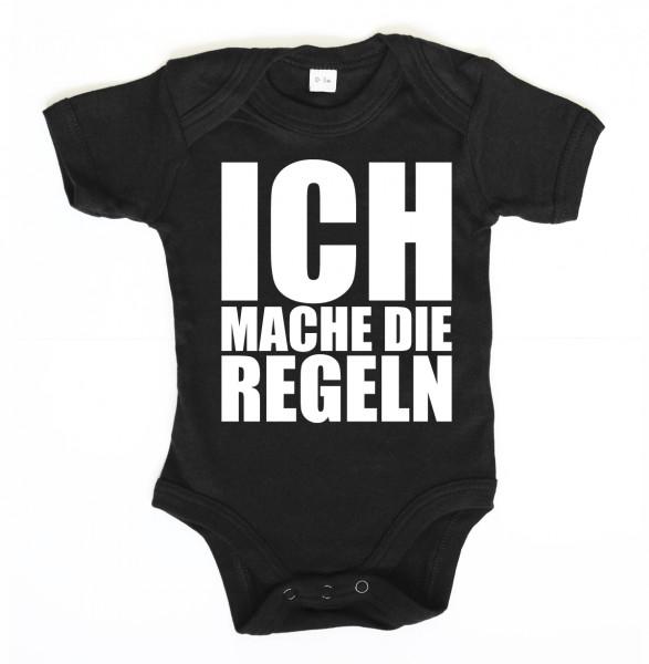 ::: ICH MACHE DIE REGELN ::: Baby Body für Mädchen & Jungen
