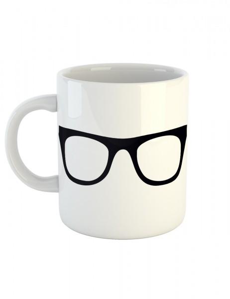 clothinx Kaffeetasse mit Aufdruck Nerd Glasses Brille