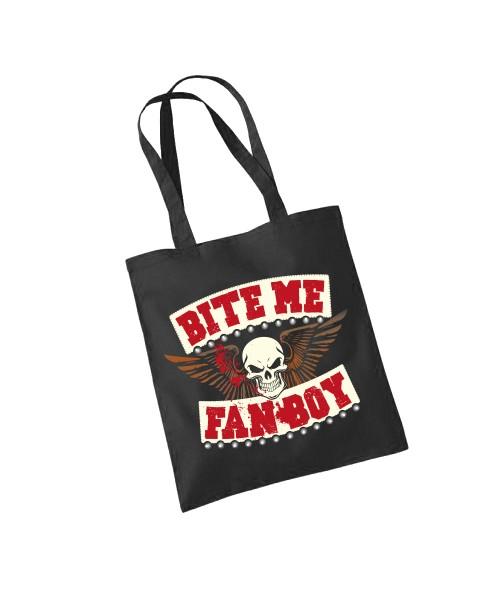 -- BITE Me FANBOY -- Baumwolltasche