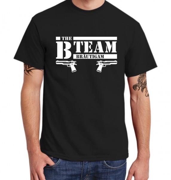 ::: B TEAM MIT PISTOLE ::: T-Shirt Junggesellenabschied Kombi ::: Männer