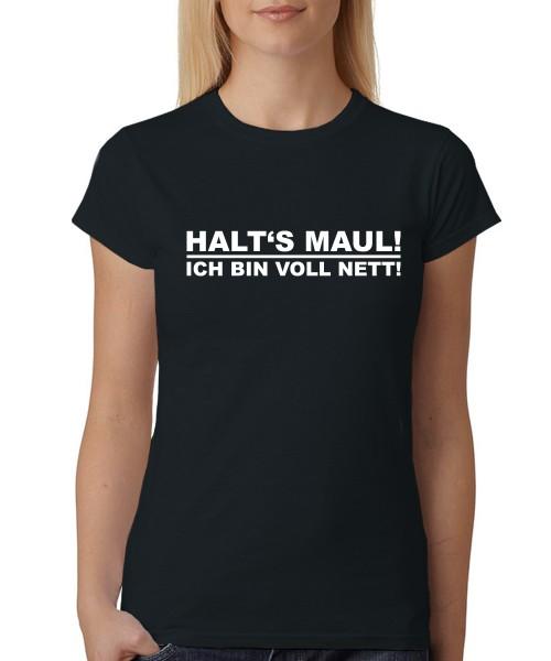 -- ... Ich bin voll nett! -- Girls T-Shirt