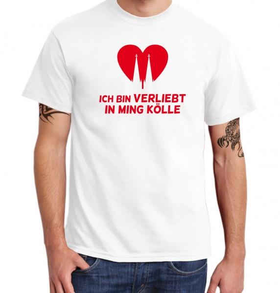::: ICH BIN VERLIEBT IN MING KÖLLE ::: T-Shirt Herren
