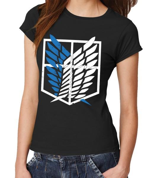 -- AoT Scouting Legion 2-Farb Variante -- Girls T-Shirt