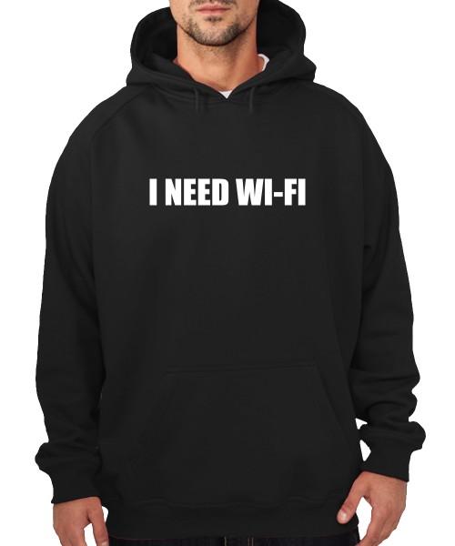 -- I need Wi-Fi -- Boys Kapuzenpullover