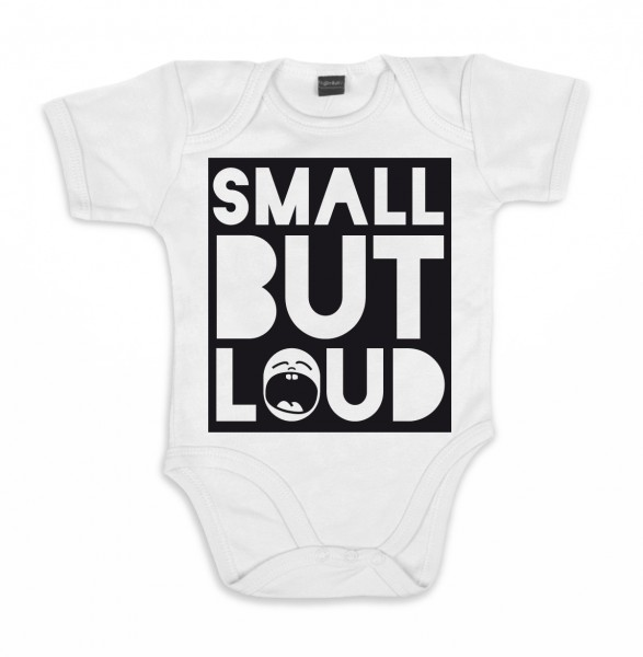 ::: SMALL BUT LOUD ::: Grafikdesign Body made with Love ::: Baby Body Jungen
