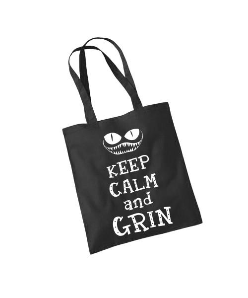 -- Keep Calm and Grin -- Baumwolltasche