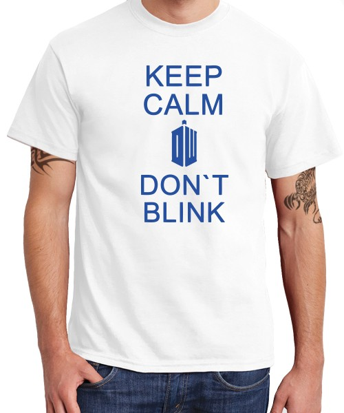 -- Keep Calm and Don't Blink -- Boys T-Shirt