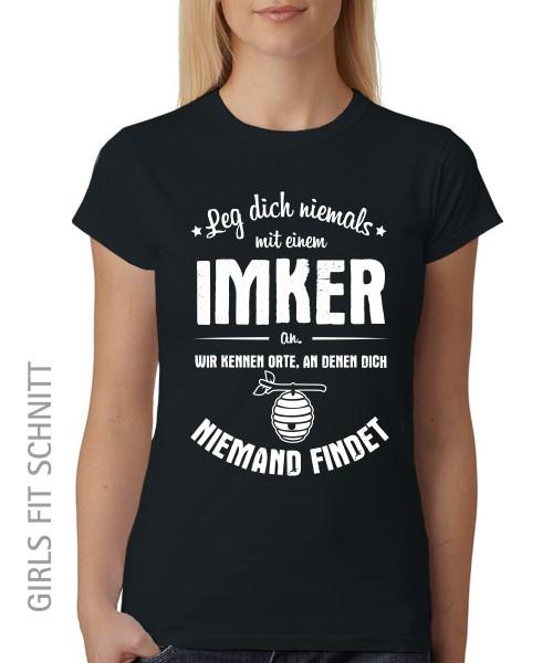 -- Leg dich niemals mit einem Imker an -- Girls T-Shirt auch im Unisex Schnitt