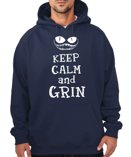-- Keep Calm and Grin -- Boys Kapuzenpullover