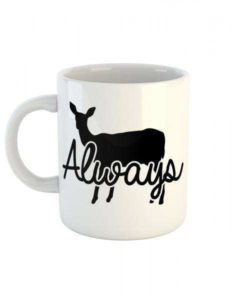 clothinx Kaffeetasse mit Aufdruck Always