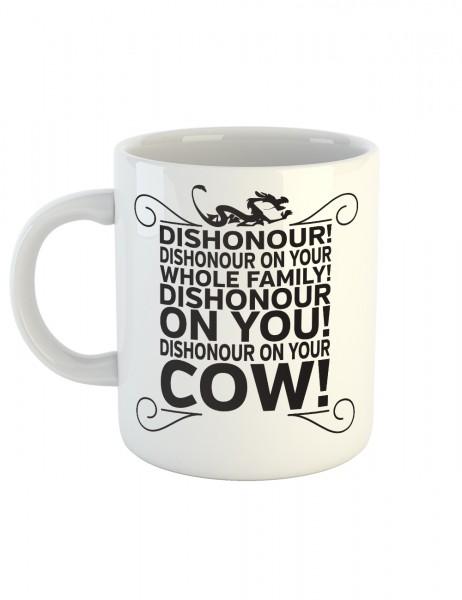 clothinx Kaffeetasse mit Aufdruck Dishonour