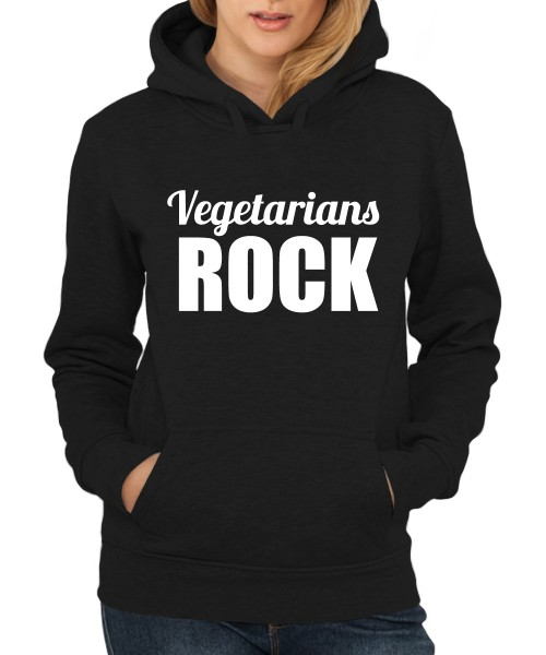 ::: VEGETARIANS ROCK ::: Hoody ::: Damen