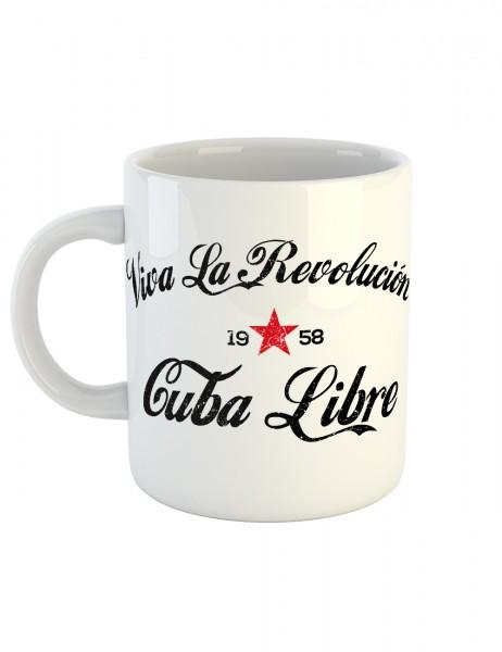 clothinx Kaffeetasse mit Aufdruck Cuba Libre