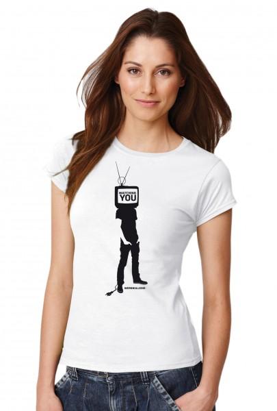::: WATCHING YOU ::: Grafikdesign Shirt made with Love ::: Damen