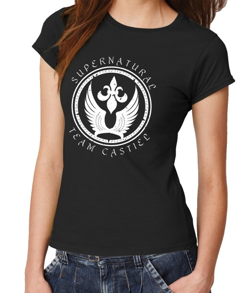-- Team Castiel Holy Chastity -- Girls T-Shirt