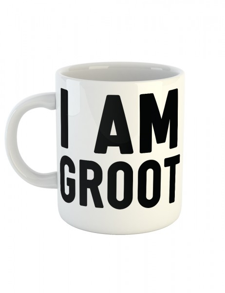 clothinx Kaffeetasse mit Aufdruck I Am Groot