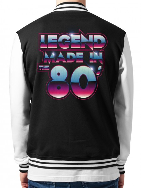 clothinx Collegejacke Unisex Legend Made in the 80s