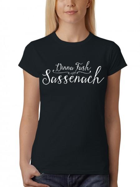 clothinx Damen T-Shirt Dinna Fash Sassenach
