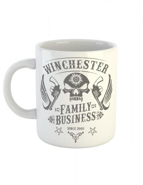 clothinx Kaffeetasse mit Aufdruck Winchester Family Business