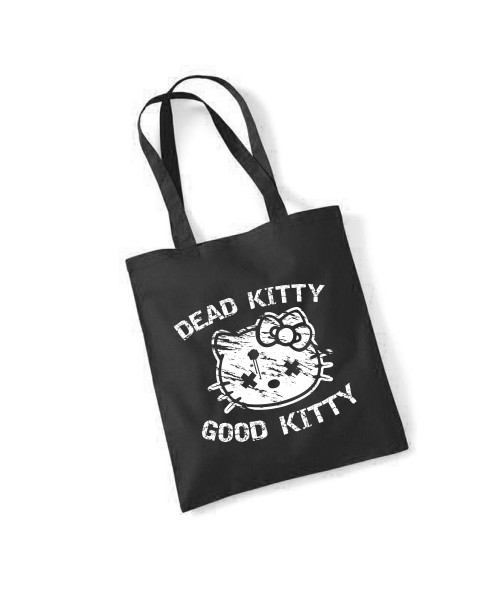 -- dead Kitty Good Kitty -- Baumwolltasche