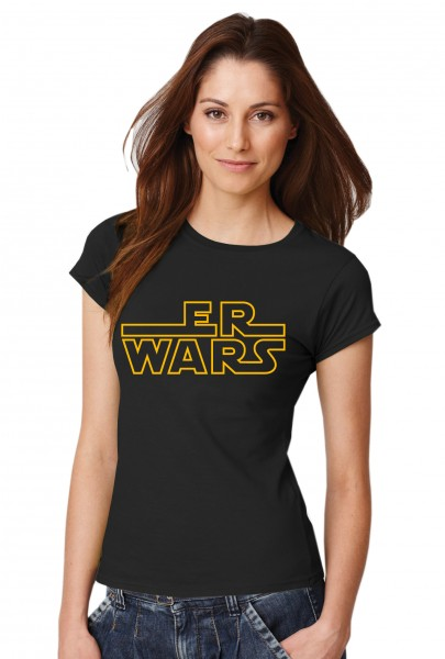 ::: ER WARS ::: Grafikdesign Shirt made with Love ::: Damen