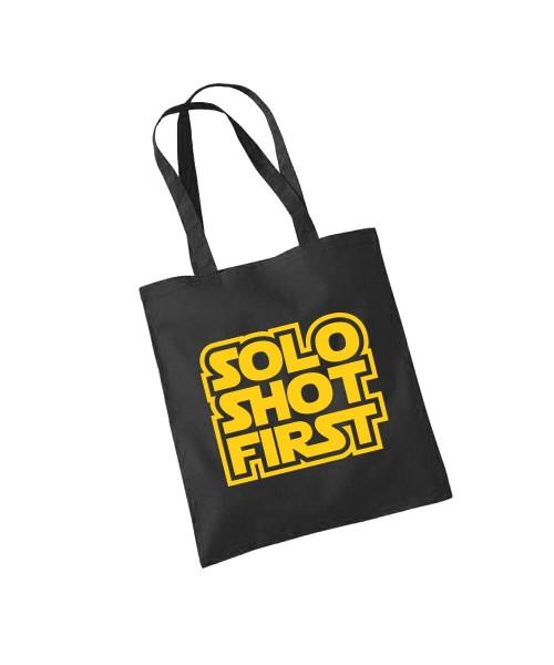 -- Solo Shot First -- Baumwolltasche