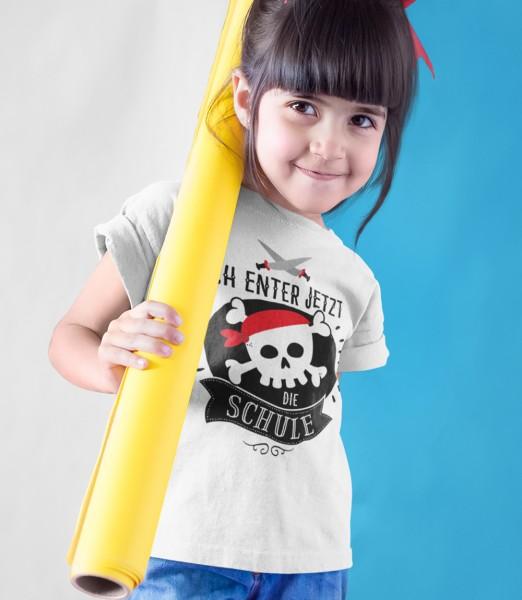 Geschenk Zur Einschulung Ich Enter Jetzt die Schule Schulkind Kinder T-Shirt Mädchen