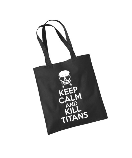 -- AoT Keep Calm and Kill Titans -- Baumwolltasche