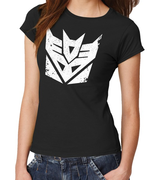 -- Decepticons, Punish and Enslave -- Girls T-Shirt