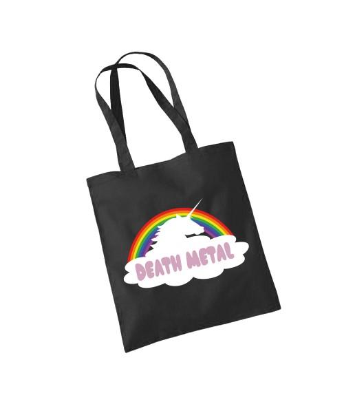-- Death Metal Rainbow Unicorn -- Baumwolltasche