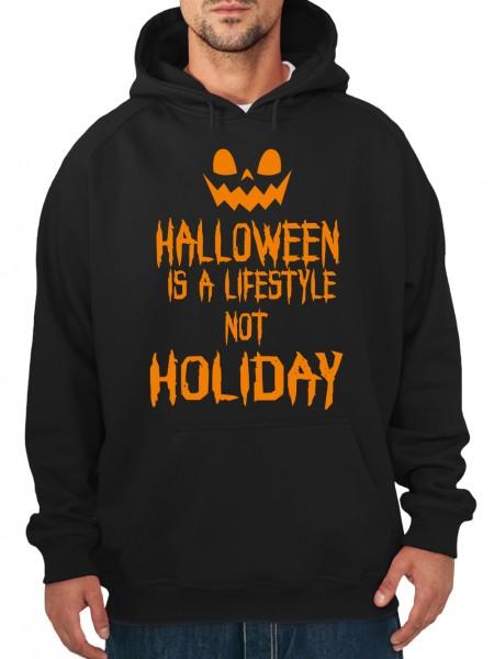 clothinx Herren Kapuzenpullover Halloween Is A Lifestyle Not A Holiday