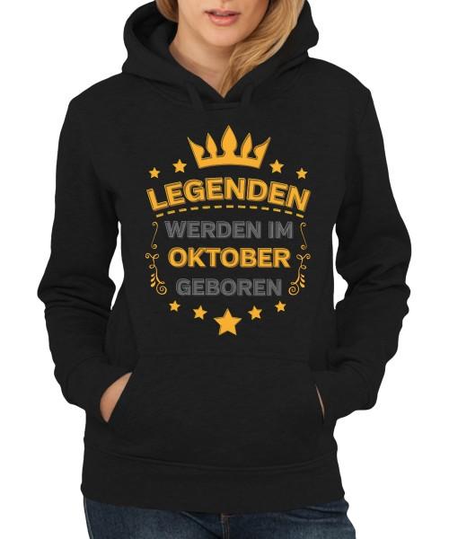 -- Legenden werden im Oktober geboren -- Girls Kapuzenpullover