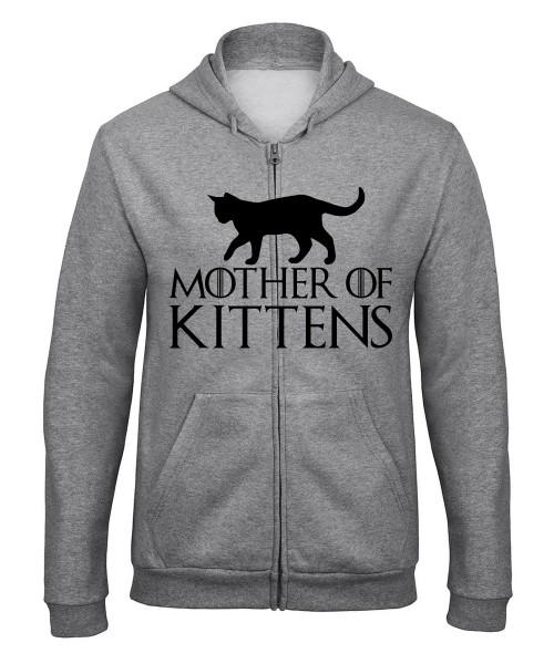 -- Mother of Kittens -- Unisex Zip Pullover