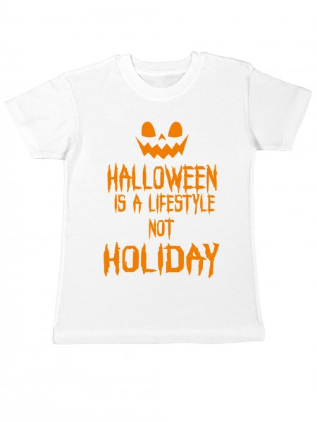 clothinx Kinder T-Shirt Halloween Is A Lifestyle Not A Holiday