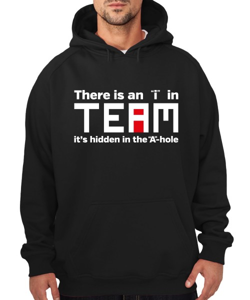 "-- There is an ""i"" in Team -- Boys Kapuzenpullover"