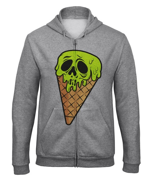 -- I Scream Halloween Motiv -- Unisex Zip Pullover