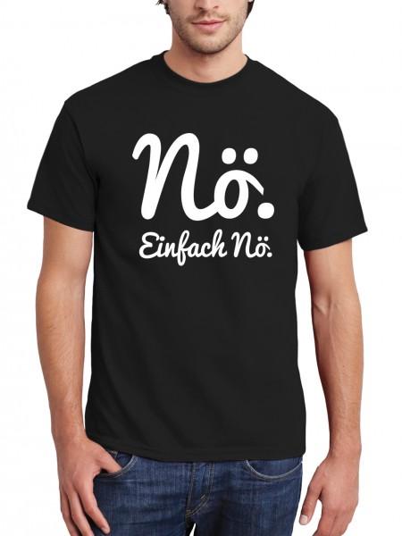 clothinx Herren T-Shirt Nö Einfach Nö