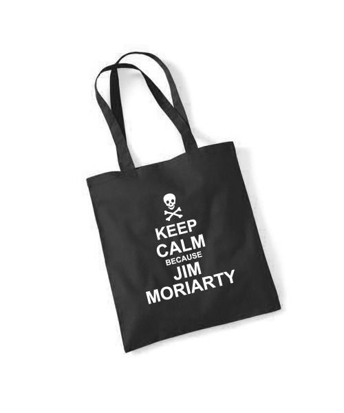 -- Keep Calm because Jim Moriarty -- Baumwolltasche